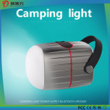 Lampada di campeggio multifunzionale con l'altoparlante di Bluetooth e la Banca di potere