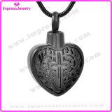 Pendente del cuore dei pendenti dei monili di cremazione con la traversa Ijd9765