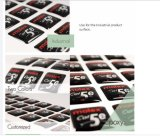 La etiqueta engomada de epoxy modificó la escritura de la etiqueta del epóxido para requisitos particulares de la impresión, epóxido cristalino respetuoso del medio ambiente de la elipse de la impresión de la escritura de la etiqueta