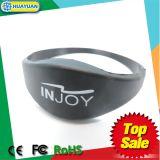 Slim silicone HF 13,54MHz NTAG213 pulseira de pulseira em relevo RFID