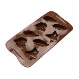 Molde material del silicón de la categoría alimenticia del certificado del FDA, molde formado 3 diversas hojas de /Chocolate del molde del pudín del silicón