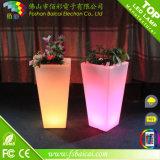 Crisol al aire libre de la planta de Illuminous y crisol de flor ligero plástico del LED