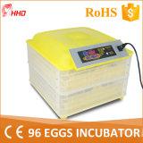 Incubateur automatique marqué Yz-96 d'oeufs de poulet de la CE mini