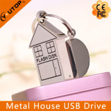 Excitador creativo do USB do metal da forma da casa do logotipo feito sob encomenda (YT-1245)
