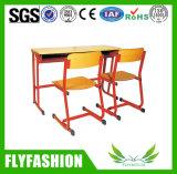 Escritório e cadeira dobro do estudante Mobília da escola de metal e madeira