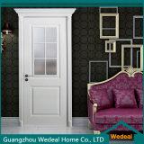 Personalizar a porta de painel americana do MDF da madeira de Prehung Lacquer/PVC/Veneer (WDXW-010)