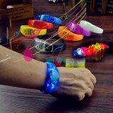 Pulsera promocional del silicio del regalo de la manera del LED
