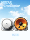 77 * 77 mm 4-8ohm 2-5W Mylar caja del altavoz de sonido