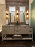 Controsoffitto europeo del quarzo di stile con la vanità del doppio della stanza da bagno della maniglia