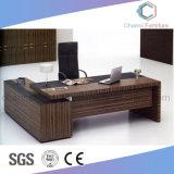 Vector de madera recto de la oficina del escritorio de los muebles modernos