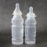 HDPE Wegwerfführende Plastikflasche