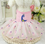 Le crabot de jupe de robe de lacet vêtx des vêtements d'animal familier d'été