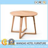 Mesa de café redonda de madeira de carvalho claro e moderno feita na China