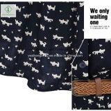 Fábrica ocasional de la nueva del diseño de la manera de las mujeres de algodón de la camisa alineada del collar