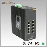 Interruptor industrial manejado acceso eléctrico de la red de Ethernet de 8 gigabites