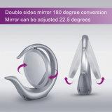 Espelho leve da composição dos lados do dobro da forma redonda do diodo emissor de luz com ampliação 1X &7X