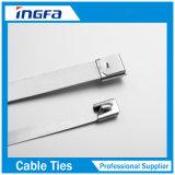 Freie Beispielkugel-Verschluss-Typ unbeschichtete Ss304 Ss316 Metallkabelbinder