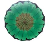 عباد الشمس تصميم نقل الحرارة الطبقات الطباعة مزدوجة مستقيم مظلة (SU025-6)