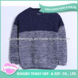 Camisola Hand Knitted de lãs do menino do algodão da forma de DIY