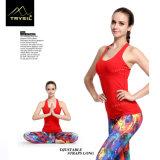De Gymnastiek van de Langsligger van de Yoga van vrouwen bekleedt de Mouwloos onderhemden van de Geschiktheid voor Dames