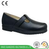 Неподдельное здоровье кожаный ботинок широкое глубокое обувает протезные вскользь ботинки