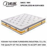 Fibriliaのリネンファブリック寝具の家具、Fb853のための泡の端が付いている自然な乳液の圧縮ばねの柔らかいマットレス