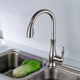 Rubinetto della cucina del bacino del nichel spazzolato supporto d'ottone della piattaforma di Flg