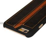 Type simple avec la caisse de téléphone de cuir de couleur de Balck pour l'iPhone