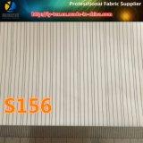 スーツのライニング(S103.156)のためのピンクポリエステルヤーンの染められた縞ファブリック