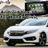 Interface vidéo de navigation Android HD GPS pour 2016 Honda Civic Mirrorlink, vision panoramique vidéo, contrôle vocal, application Android