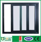 Precio de fábrica de aluminio ventana deslizante con parrilla Diseño