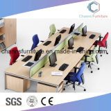 Poste de travail blanc neuf en travers de mélamine de qualité de bureau de meubles de personnel administratif