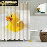 Cortina de chuveiro larga extra moderna do amarelo bonito do pato