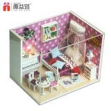 Brinquedo de madeira de montagem de venda quente da casa de boneca