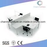Eben querer weißer Büropersonal-Möbel-Schreibtisch-Qualitäts-Melamin-Arbeitsplatz