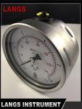 075 Langs Roestvrij staal Wika Type 100mm AchterAansluting