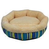 円の印刷のキャンバスの飼い犬のベッドかクッションまたは猫のベッド(KA0089)