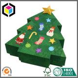 Двухкусочная коробка подарка бумаги картона формы рождественской елки