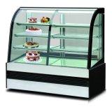 조정가능한 유리제 선반 (4개의 층)를 가진 케이크 전시 냉각기