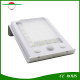 Sans fil actionnés solaires imperméabilisent 24 lumières extérieures solaires de lampe de mur de détecteur de mouvement de DEL