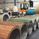 대리석 나무로 되는 곡물 PVDF 색깔은 알루미늄 코일을 입혔다