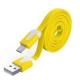 кабель заряжателя лапши 1M прочный плоский/микро- кабель USB/зарядный кабель Sync данных для Android, Samsung, HTC, LG