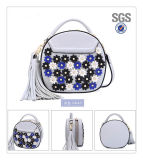 2017 nuovo sacchetto di spalla della signora Fashion Mini con la decorazione dei fiori