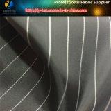 Tela teñida hilado negro de la raya, tela del poliester, alineando la tela (S25.26)