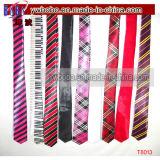Accesorios del cable de la corbata del lazo de los hombres tejidos de seda del telar jacquar del 100% (T8007)