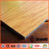 Панель деревянного взгляда Ideabond алюминиевая составная (AE-301)