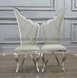 백색 날개 PU 가죽에 의하여 덮개를 씌우는 대중음식점 의자