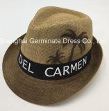 Sombrero de paja de papel de la manera con el aerosol impreso (Sh047)