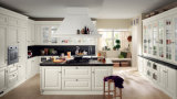 Armadio da cucina di legno elegante piacevole del PVC della mobilia di Quailty