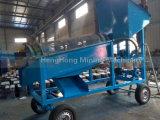 Écran de lavage de trommel d'usine d'or mobile